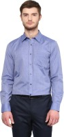 London Bridge Formal Shirts (Men's) - London Bridge Men's Solid Formal Blue Shirt