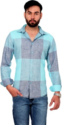Urban Republic Men's Checkered Casual Blue Shirt