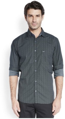 Park Avenue Men,s Printed Casual Black Shirt