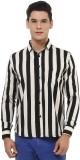 Oxolloxo Men's Striped Casual Black Shir...