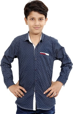 MagPie Boy's Printed Casual Multicolor Shirt