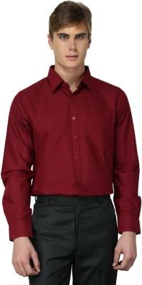 MNW Men's Solid Formal Red Shirt
