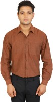 Formal Shirts (Men's) - Bannasa.com Men's Solid Formal Brown Shirt