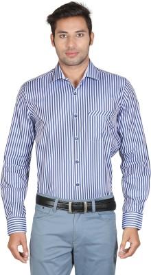 Don Vino Men's Striped Casual Blue Shirt