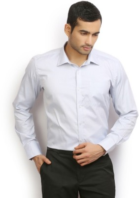 Odin Men's Solid Casual Blue Shirt