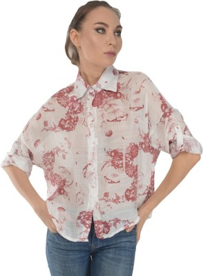 Trend Notes Women's Printed Casual Red Shirt