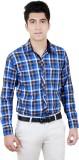 Zrestha Men's Checkered Formal Blue Shir...