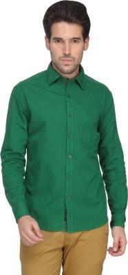 Denimlab Men's Solid Casual Green Shirt