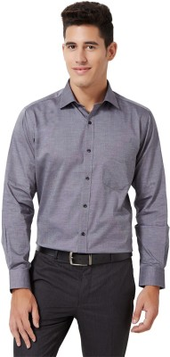 University of Oxford Men's Solid Casual Blue Shirt