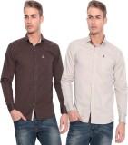 Pazel Men's Solid Casual Multicolor Shir...
