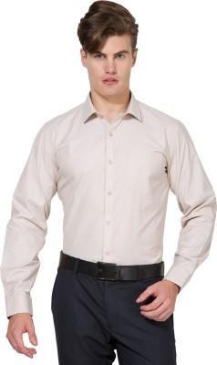 Mark Taylor Men's Solid Formal Beige Shirt