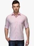 Zavlin Men's Solid Casual Pink Shirt