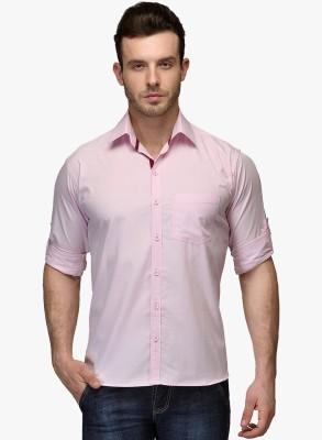 Zavlin Men,s Solid Casual Pink Shirt