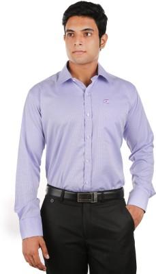 Relish Men's Checkered Formal Purple Shirt