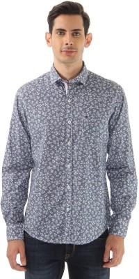 Monte Carlo Men's Printed Casual Grey Shirt
