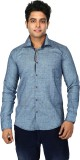 Trinath Men's Self Design Casual Blue Sh...