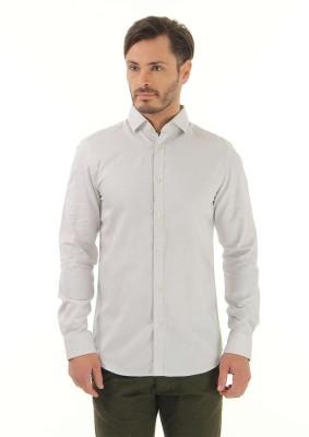 Jack & Jones Men's Solid Casual Grey Shirt