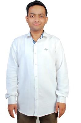 Gayo Fashion Men's Solid Casual White Shirt