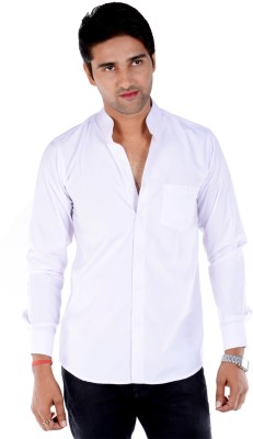 S9 Men's Solid Casual, Wedding, Party White Shirt