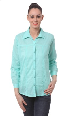 Being Fab Women's Solid Casual Green Shirt