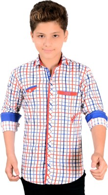 Anry Boy,s Checkered Casual Red, Blue Shirt