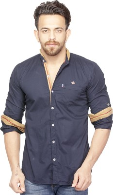 Bombay Casual Jeans Men's Solid Casual Blue Shirt