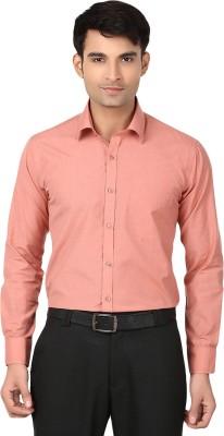 VAPE Men's Solid Casual Orange Shirt