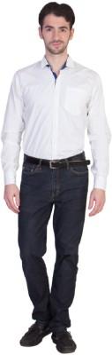 Yachna Desigen Men's Solid Casual White Shirt