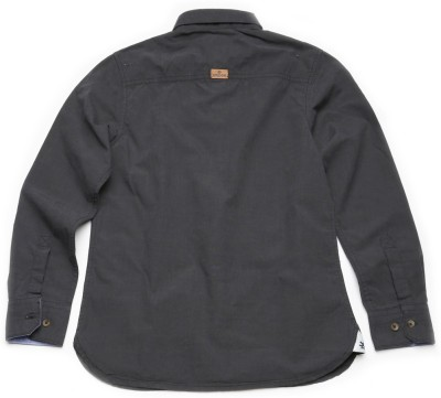 WROGN Boy's Solid Casual Grey Shirt