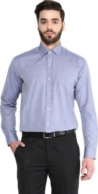 Urban Culture Men's Solid Formal Purple Shirt