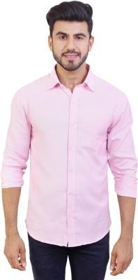 Solzo Men's Solid Casual Pink Shirt