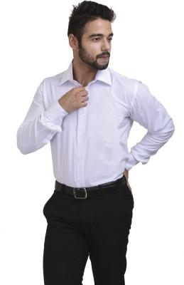 Coffee Bean Men,s Solid Formal White Shirt