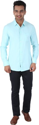 Tasho Zaara Men,s Solid Casual Blue Shirt
