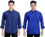 Elegant Men's Solid Casual Blue, Dark Bl...