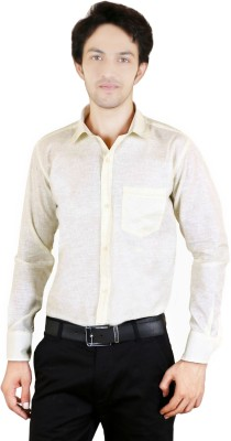 Zrestha Men's Solid Formal Yellow Shirt