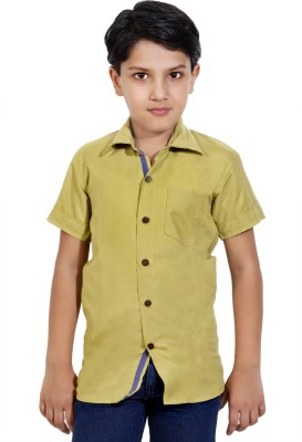MagPie Boy's Solid Party Gold Shirt