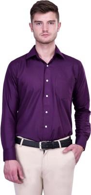 Protext Premium Men's Solid Formal Purple Shirt