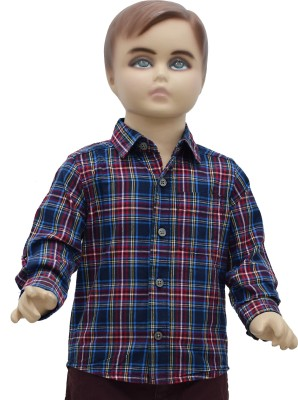 Urban Forest Boy's Checkered Casual Multicolor Shirt