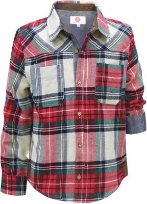 The Cranberry Club Boy's Checkered Casual Multicolor Shirt