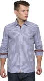 Trendster Men's Striped Formal Multicolo...