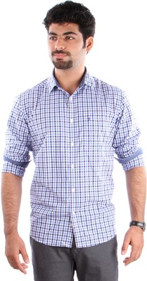 Indian Terrain Men's Checkered, Striped Formal Multicolor Shirt