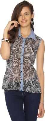IDENTITI Women's Printed Casual Multicolor Shirt