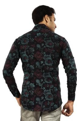 Trinath Men's Printed Casual Black Shirt