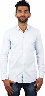 maclavaro Men's Solid Casual Light Blue Shirt