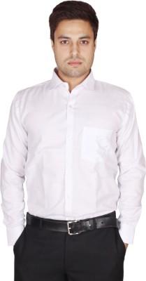 Shaurya-F Men's Solid Formal Linen White Shirt