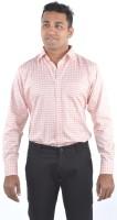 Bl_nk Formal Shirts (Men's) - BL_NK Men's Checkered Formal Red Shirt