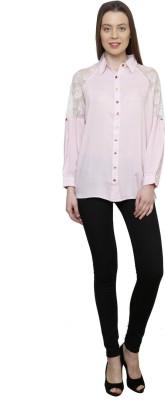 Gossip Girls Women's Solid Formal Pink Shirt