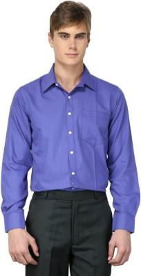 MNW Men's Solid Formal Purple Shirt