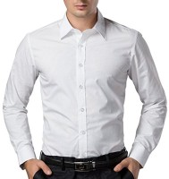 Fomti Formal Shirts (Men's) - FOMTI Men's Solid Formal White Shirt