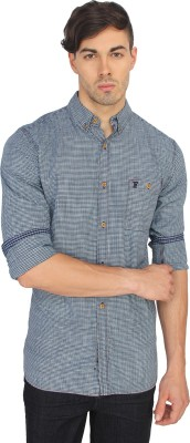 French Connection Men's Checkered Casual Grey Shirt